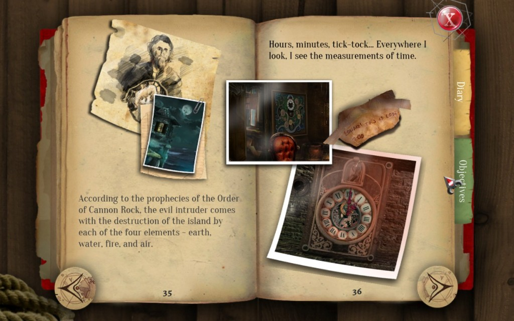 The game gives you clues via the usual journal. Those clues are not always visually clear, however.